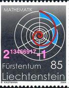 Francobollo emesso dal Liechtenstein nel 2004 dedicato al 39mo numero primo di Mersenne
